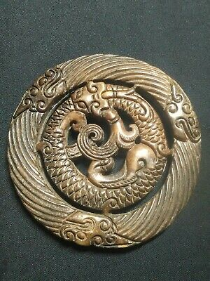 Collectable Chinese Hand Carved Jade Stone Dragon Figure Ornament Netsuke