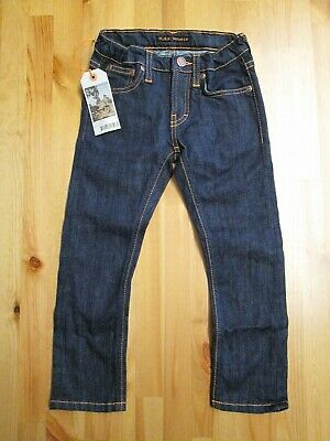 BNWT NUDIE JEANS Tiny Turner Rinsed Wash Jeans Age 3 Year - adjustable waistband