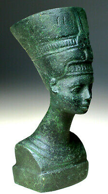 Egyptian Bronze Bust of Queen Nefertiti from Amarna