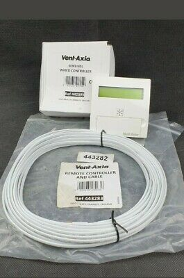 Vent Axia Sentinel Kinetic Wired Remote Controller 442899 & Cable Kit 443283