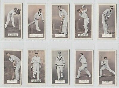 CARRERAS-FULL SET CRICKET ERS EXC+++ BROWN SERIES OF 50 CARDS
