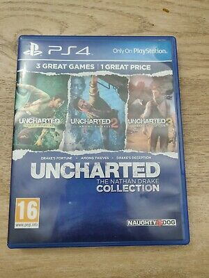 Uncharted The Nathan Drake Collection Trilogy 3 Games (PS4)