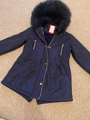 Girls Navy Ted Baker Coat Age 11