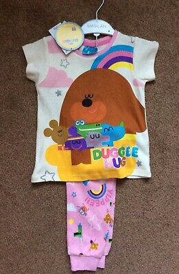 BNWT Matalan Hey Duggee Girls Pjs Pyjamas Size Age 2-3 Years Rrp £12