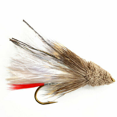QTY 6 x SIZE #6 MUDDLER MINNOW FLY FISHING FLIES  DEER HAIR WITH GOLD TINSEL