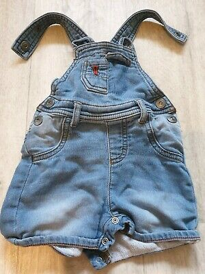 Baby Boys clothes Nutmeg 3-6 months Blue Denim Dungarees Shorts Trousers