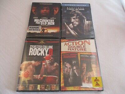 5 Action/Drama on 4 NEW DVDs.Stallone, Assassins/Specialist/Rocky 2/First Blood