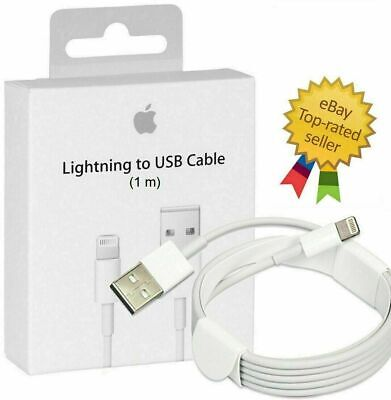 High Quality Genuine Apple1M Lightning Charger Cable iPhone iPad 7 X 8 6 5