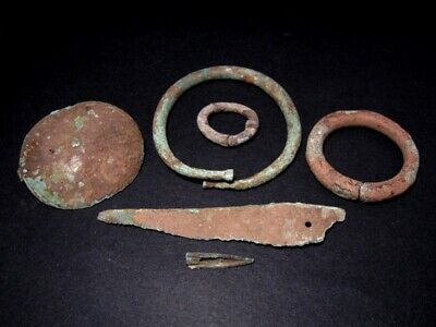Extremely Rare, Bronze Age, Hallstatt, Celtic Grave Accessory Set, As Found+++