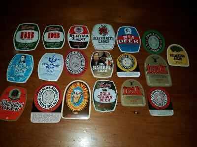 19 different UNUSED old COOPERS COOPER BEER LABEL ADELAIDE SOUTH AUSTRALIA