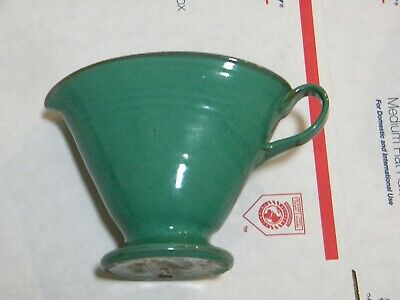 Vintage NCG Nell COLE Graves North Carolina Pottery Green Pouring Pitcher 1991