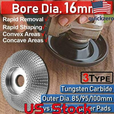 3 Type Bore Tungsten Carbide Wood Sanding Carving Shaping Disc For Angle Grinder