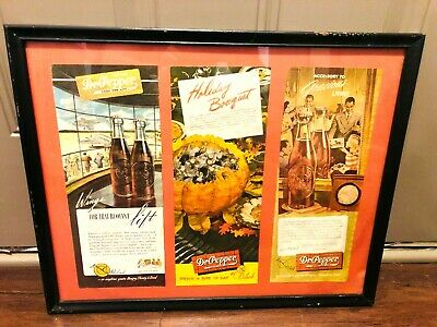Dr Pepper 1940S Framed Advertisements Good For Life