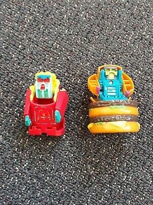 Lot Of 3 Vintage Mcdonalds Australia Changeables Transformers Toy Action Figures