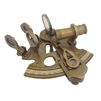 Nautical Antique Sextant Brass Marine Maritime Solid Ship Sextant Style New Gift