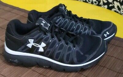 Under Armour Boys Grade School Micro G Assert Sneakers Size 4.5 Black & White