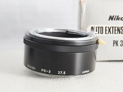 Nikon PK-3 AUTO Extention Ring 27.5mm for Nikkor manual Lens [ MINT ] from JP