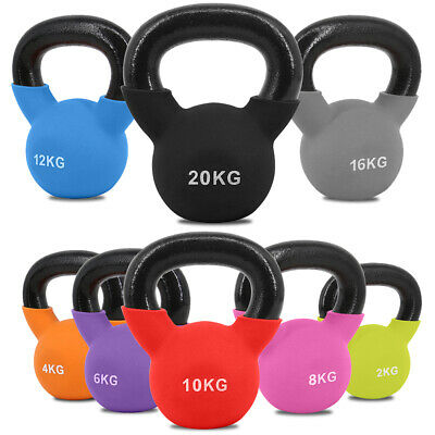Neoprene Kettlebells Cast Iron Weights Home Gym Fitness Aerobic Exercise 2-20 KG