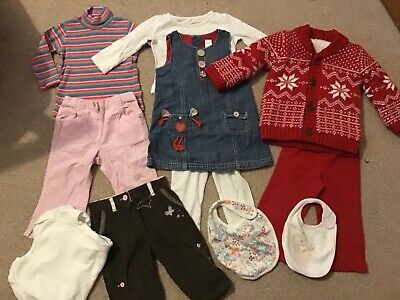 Lovely bundle of baby girls 9-12 months clothes - Next George etc