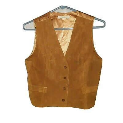 Vintage 70's Kids Suede Western Cowboy Cowgirl Sleeveless Vest Size M - AS IS