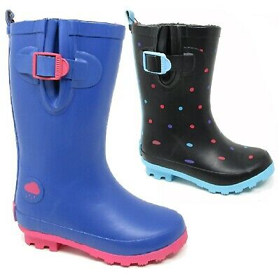 Kids Girls Childrens Wellies Wellington Welly Warm Rain Snow Boots Shoes Size Uk