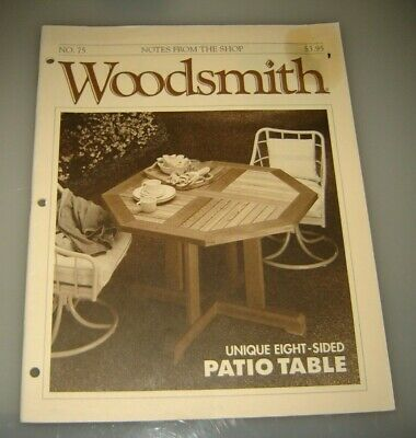 Woodsmith Magazine Patio Table Issue 75 - June 1991