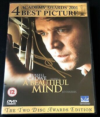 Signed James Horner A Beautiful Mind Dvd Rare Composer Titanic Avatar
