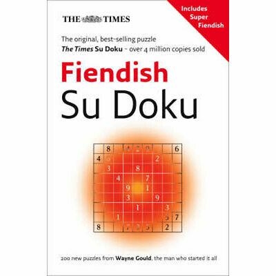 The Times - Fiendish Su Doku Book 1  200 puzzles - FREE P&P