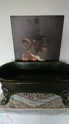 Rare And The Only One On Ebay, Cast Iron Ice Bath, Very Heavy, Claw Feet, Plug