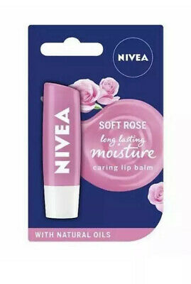 Nivea SOFT ROSE Long Lasting Moisture Caring Lip Balm