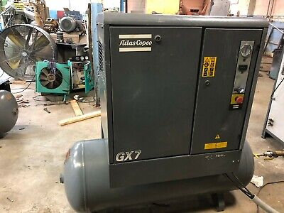 Atlas Copco GX7 10hp rotary screw air compressor