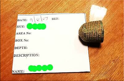 Bee Hive Thimble Complete Medieval Post-Medieval  AD1400-1600 Detector Find UK