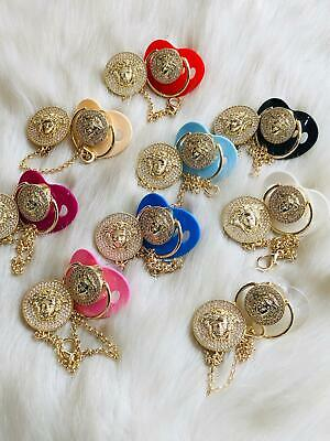 Versace PACIFIER , Versace Baby , Versace Dummy Clip ,Soother for Boys and Girls