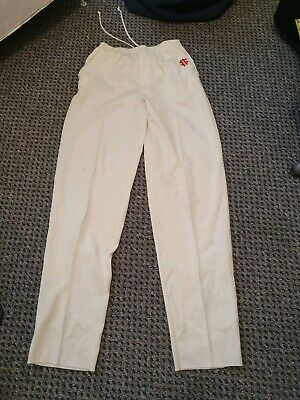 Gray Nicolls Ivory Loose Fitting Cricket Trousers (Whites) Size L