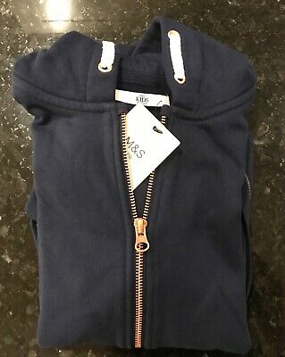 Marks & Spencer - Girls Hoodie - Blue - Age 11-12Yrs - New With Tags
