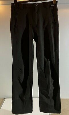 REGATTA OUTDOORS Fenton Unisex Children's Black Soft Shell WR Trousers UK 13-14