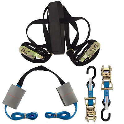 Ratchet Strap Handlebar Blue Motorcycle ZipStrap Motorcycle Cargo Kit Line