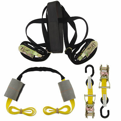 Ratchet Strap Handlebar Yellow Motorcycle ZipStrap Motorcycle Cargo Kit Line