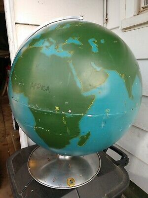 "Extra Large 21"" World Graphic Project Globe Metal Teaching Tool Educational"