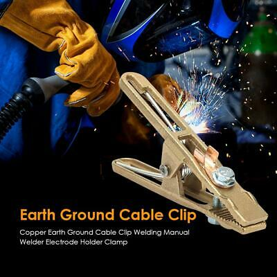 Copper Earth Ground Cable Clip Welding Manual Welder Electrode Holder Clamp UK