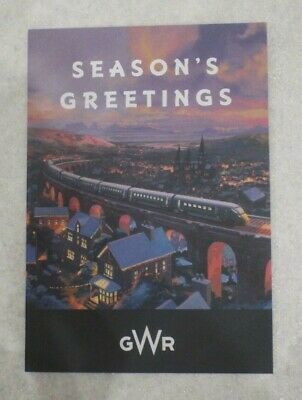 GWR Great Western Railway Trains Employee Seasons Greetings Christmas Card 2019