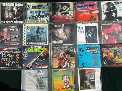 Job Lot of 18 Mixed and Assorted Mainly Blues CD's