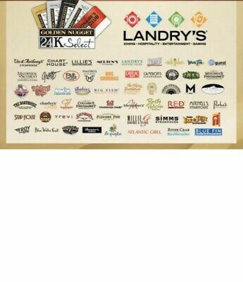 Landry's Gift Card $15 Value ~ 26% Discount!!!