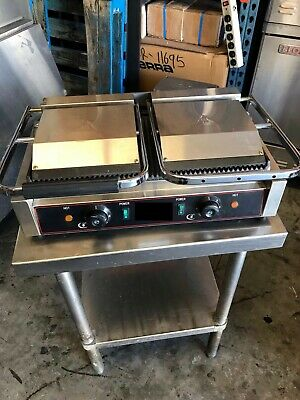 New Countertop Double Electric Panini Italian Style Grill 110V