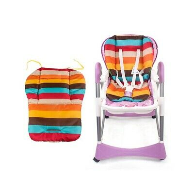 Baby Stroller Seat Cushion Pushchair Colorful Soft Seat Pad Double-sided Use