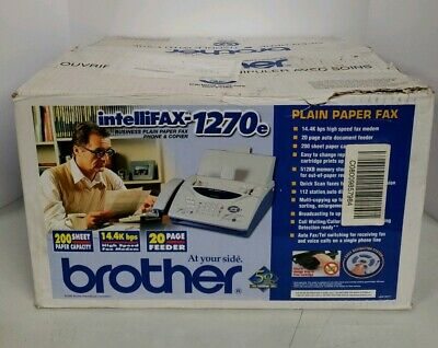 Brother IntelliFax 1270E Brand New In Box