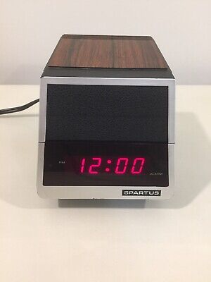 Vintage Spartus 1400 Time Vision Alarm Clock Lamp Combo Fold Down in Box