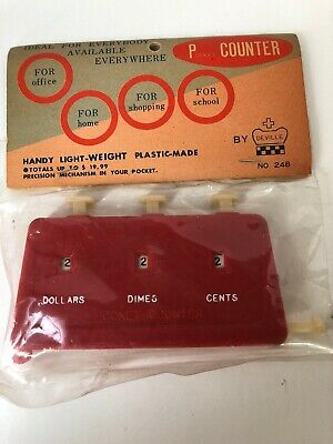 Vintage Deville Red Pocket Counter Made in Japan New in Packaging Retro