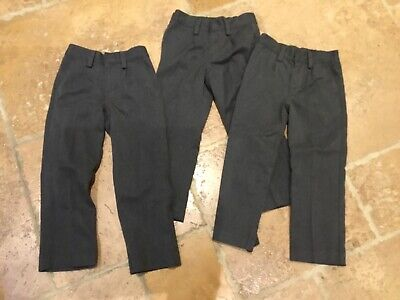 Boys grey school trousers x 3  Next age 5