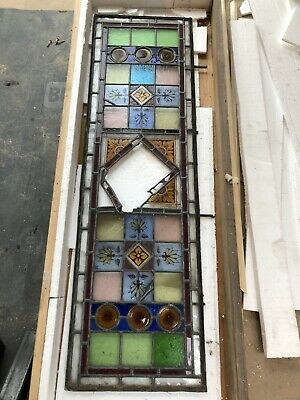 ANTIQUE VICTORIAN STAINED GLASS PANELS For Front Doors